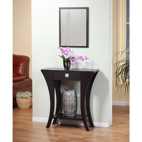 Shop Cappuccino Finish Sofa Entry Console Table With