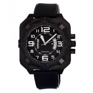 Breed Men's Ulysses Black Silicone Black Analog Watch