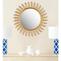 Safavieh Handmade Inca Gold 32-inch Sunburst Mirror