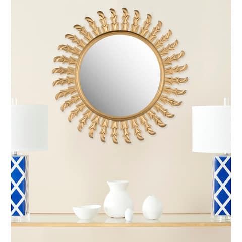 "Safavieh Handmade Inca Gold Sunburst 32-inch Decorative Mirror - 32"" x 32"" x 0.8"""