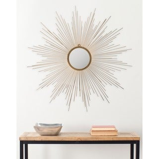 "Safavieh Marinda Braided Gold Sunburst 41-inch Decorative Mirror - 41"" x 41"" x 0.8"""