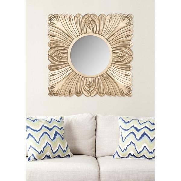 "Safavieh Handmade Art Acanthus Gold 28-inch Square Decorative Mirror - 28"" x 28"" x 0.8"""