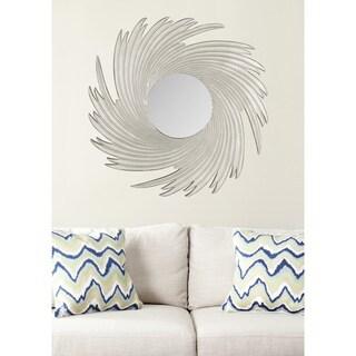 "Safavieh Art Nouveau Wave Pewter 36-inch Decorative Mirror - 36"" x 36"" x 0.8"""