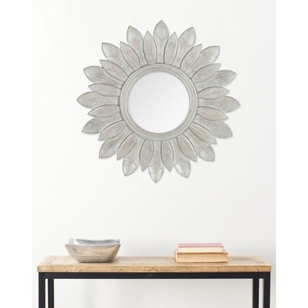 "Safavieh King Grey Sunburst 30-inch Decorative Mirror - 30"" x 30"" x 0.8"". Opens flyout."