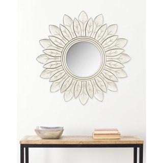 "Safavieh King Pewter Sunburst 30-inch Decorative Mirror - 30"" x 30"" x 0.8"""