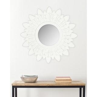"""Safavieh King White Sunburst 30-inch Decorative Mirror - 30"""" x 30"""" x 0.8"""""""