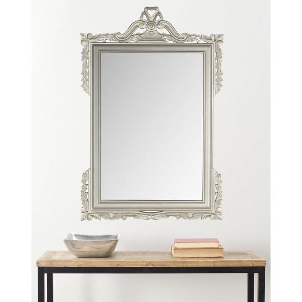 "Safavieh Pedimint Pewter 31 x 47-inch Rectangle Decorative Mirror - 31"" x 47"" x 0.8"""