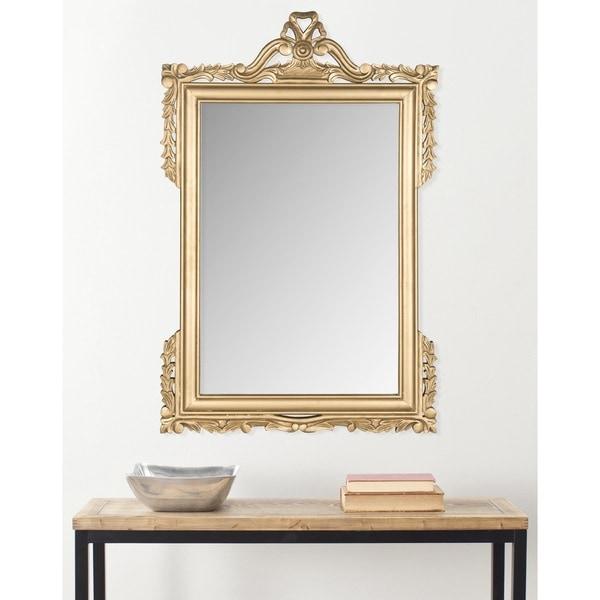 "Safavieh Pedimint Gold 31 x 47-inch Rectangle Decorative Mirror - 31"" x 47"" x 0.8"""