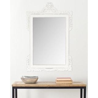 Safavieh Pedimint White 31 x 47-inch Rectangular Mirror
