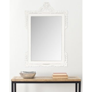 "Safavieh Pedimint White 31 x 47-inch Rectangle Decorative Mirror - 31"" x 47"" x 0.8"""