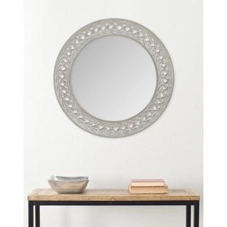"""Safavieh Braided Chain Grey 24-inch Round Decorative Mirror - 24"""" x 24"""" x 0.8"""""""