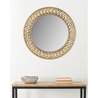 """Link to Safavieh Braided Chain Gold 24-inch Round Decorative Mirror - 24"""" x 24"""" x 0.8"""" Similar Items in Mirrors"""
