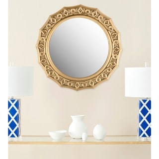 "Safavieh Gossamer Lace Gold 25-inch Round Decorative Mirror - 25"" x 25"" x 0.8"""
