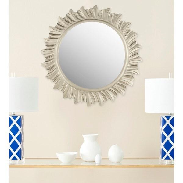 """Safavieh By The Sea Burst Pewter 29-inch Round Decorative Mirror - 29"""" x 29"""" x 0.8"""""""