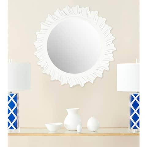 """Safavieh By The Sea Burst White 29-inch Round Decorative Mirror - 29"""" x 29"""" x 0.8"""""""