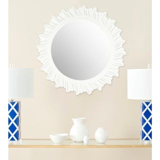 "Safavieh By The Sea Burst White 29-inch Round Decorative Mirror - 29"" x 29"" x 0.8"""