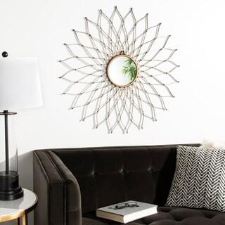 Safavieh Onile Gold Iron Flower Petals 35-inch Mirror