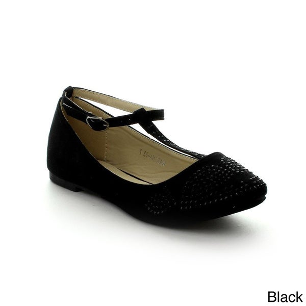 I Heart Collection Karina-03 Women's Comfortable T-strap Flats