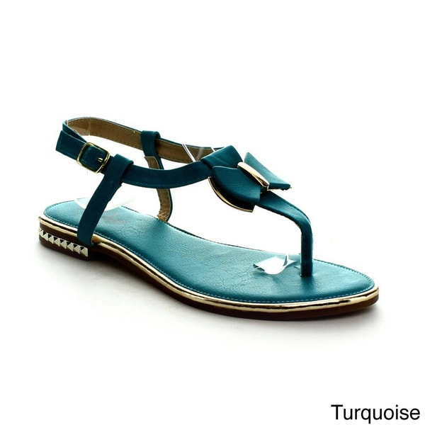 I Heart Collection Ali-01 Women's T-Strap Flat Sandals