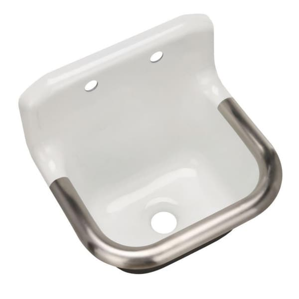Kohler Bannon Wall Mount Cast Iron White Service Sink Free Shipping Today