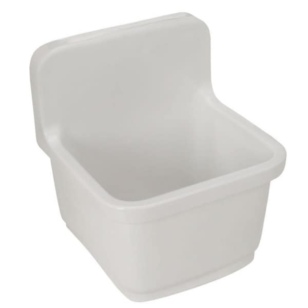 Shop Kohler Sudbury White Wall Mount Service Sink Free