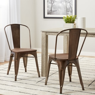 Tabouret Vintage Wood Seat Bistro Chair (Set/2)