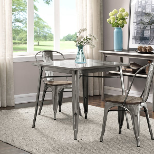 Overstock Dining Room Tables: Shop Gunmetal Dining Table