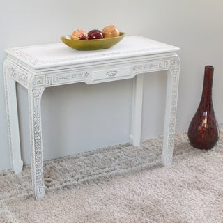International Caravan Windsor Carved White Console Table