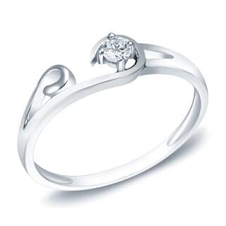 Auriya 14k White Gold 1/10ct TDW Diamond Ring