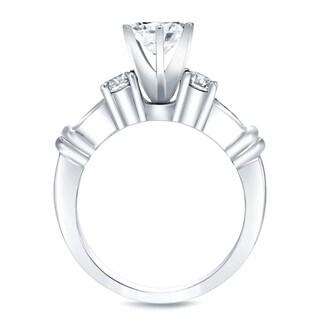 Auriya 14k Gold 2 1/3ct TDW Certified Diamond Bridal Ring Set