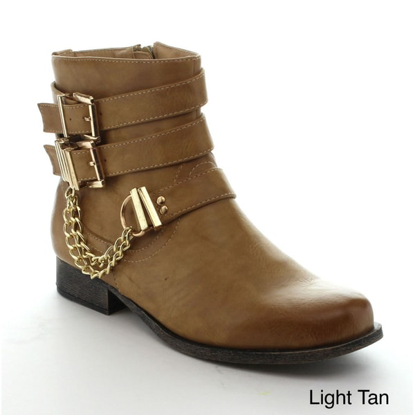 Nature Breeze Women's Chain Ankle Boots