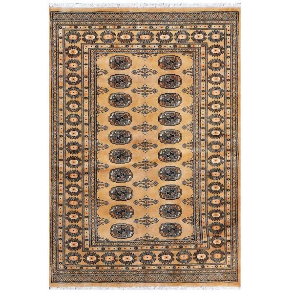 Handmade One-of-a-Kind Bokhara Wool Rug (Pakistan) - 4' x 5'10