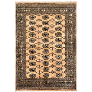 Handmade One-of-a-Kind Bokhara Wool Rug (Pakistan) - 4'2 x 6'