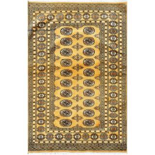 Handmade One-of-a-Kind Bokhara Wool Rug (Pakistan) - 4'2 x 6'4