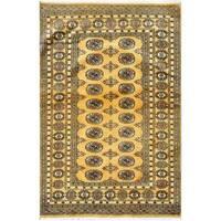 Handmade Herat Oriental Pakistani Bokhara Wool Rug (Pakistan) - 4'2 x 6'4