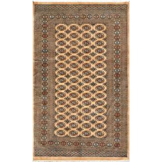 Herat Oriental Pakistani Hand-knotted Bokhara Wool Rug (5' x 8'3)