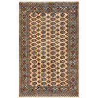 Handmade Herat Oriental Pakistani Bokhara Wool Rug (Pakistan) - 5' x 7'9