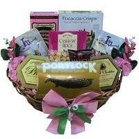 Discontinued~Warm Sentiments Gourmet Food Gift Basket with Smoked Salmon