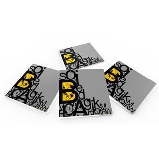Maxwell Dickson Alphabets Crystal Glass Coaster Set