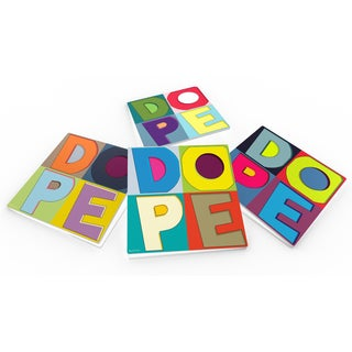 Maxwell Dickson 'DOPE-Colors' Glass Coaster Set