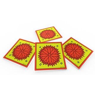 Maxwell Dickson 'Flower Power' Glass Coaster Set