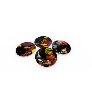 Maxwell Dickson 'Koi' Glass Coaster Set