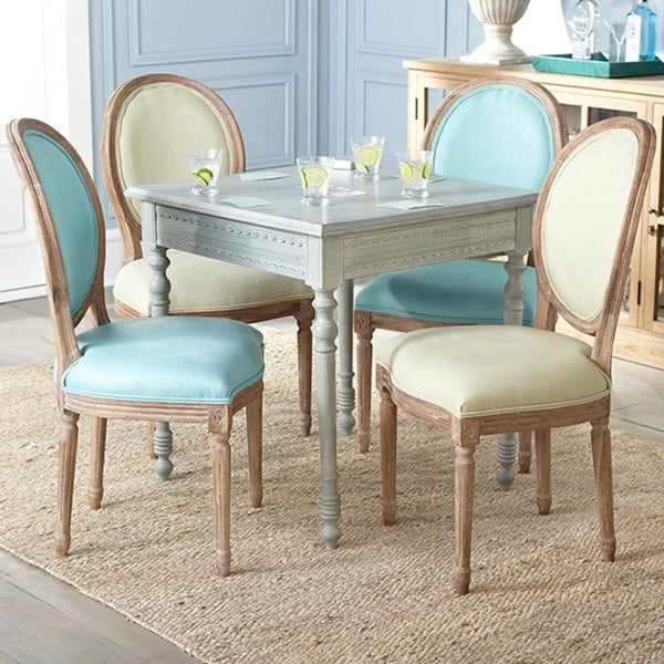 Louis XVI Distressed Sage Dining Chair Free Shipping Today