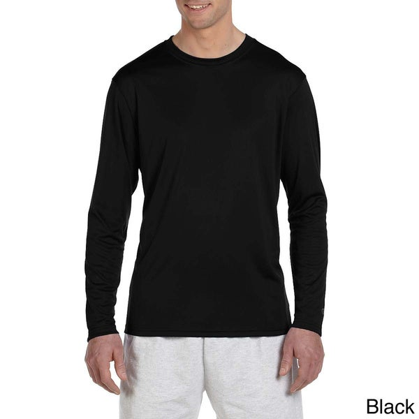 db54ae172 Champion Men  x27 s Double Dry Performance Long Sleeve T-shirt. Click to  Zoom
