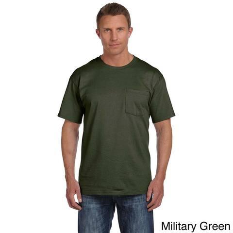 da1fd0d89 Fruit of the Loom Men's Heavyweight Cotton Chest-pocket Crewneck T-shirt