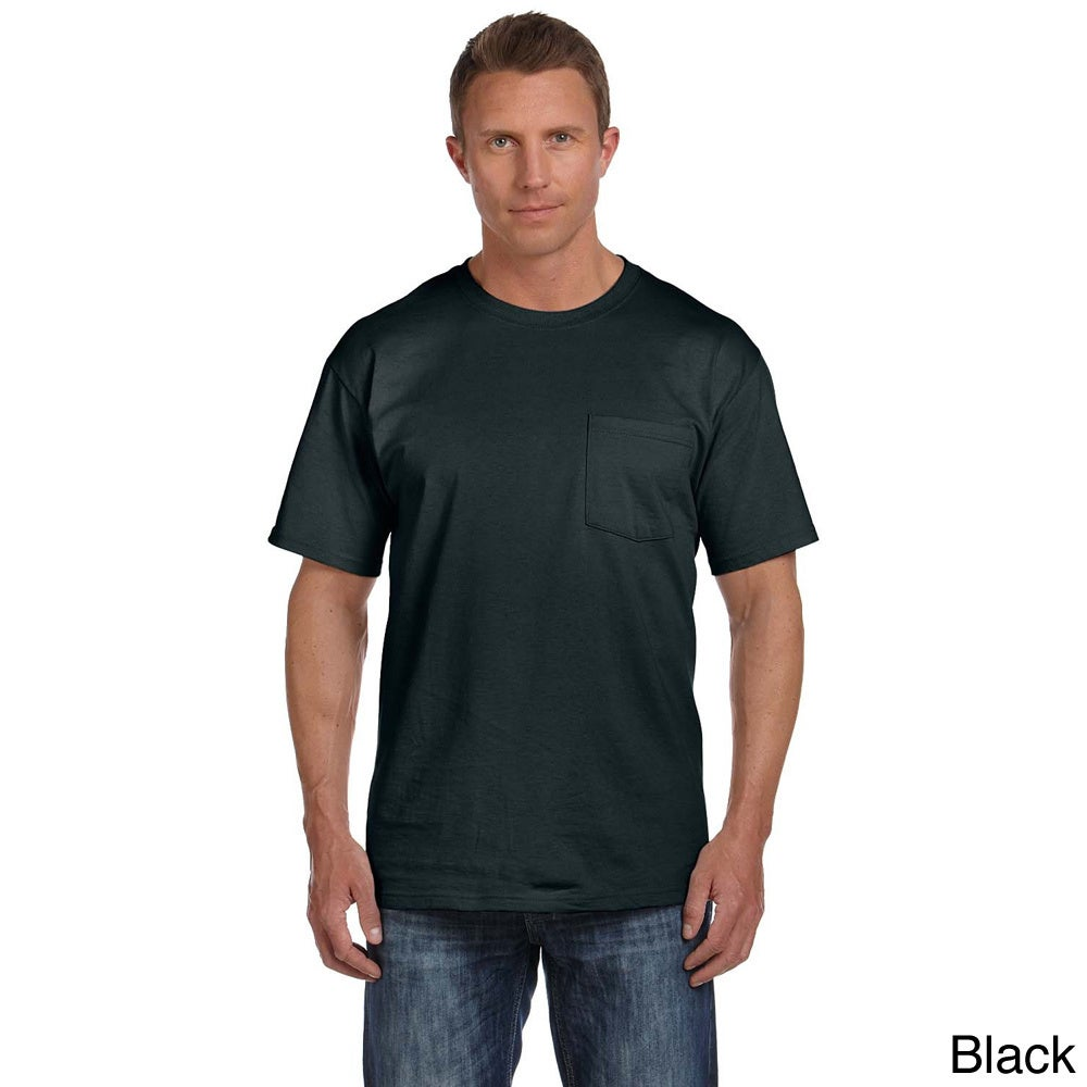 XX-Large, Charcoal Grey Fruit of the Loom Mens 4-Pack of Pocket T-Shirts