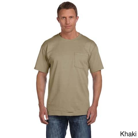 Fruit of the Loom Men's Heavyweight Cotton Chest-pocket Crewneck T-shirt