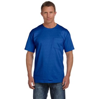 Fruit of the Loom Men's Heavyweight Cotton Chest-pocket Crewneck T-shirt