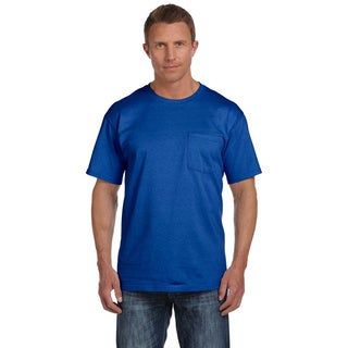 Fruit of the Loom Men's Heavyweight Cotton Chest-pocket Crewneck T-shirt (4 options available)