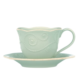 Lenox Ice Blue French Perle Cup and Saucer
